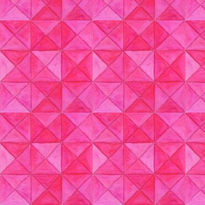 Pink watercolor triangles