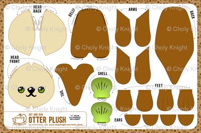 Cut & Sew Otter Plush Brown giftwrap - sewdesune - Spoonflower