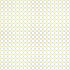 Light Yellow & White Polka Dots on Gray