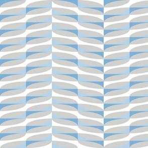 modern geometric chevrons in sky