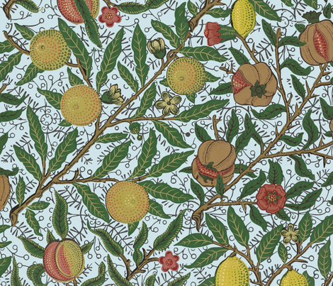 Fruit ~ William Morris ~ Bright fabric by peacoquettedesigns on Spoonflower - custom fabric