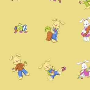 antique Easter bunnies