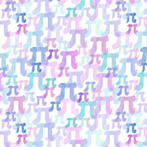 Watercolor Pi (Purple Small)