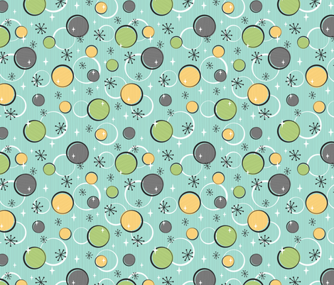 Happy Dots (Blue) fabric by robyriker on Spoonflower - custom fabric