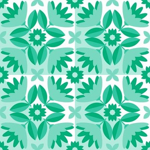 Tiles for Sparrows Teal