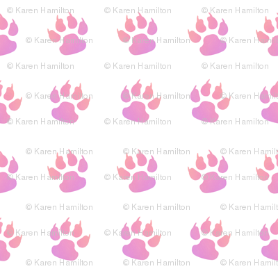 Cat paw pink white