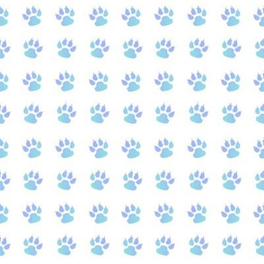 Cat paw blue white