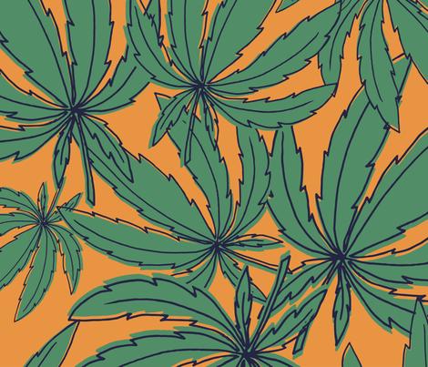 marijuana_wall fabric by zverevaka on Spoonflower - custom fabric