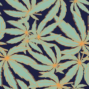 blue pattern_marijuana