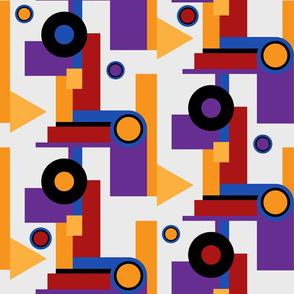 Bauhaus inspired simple shapes pattern