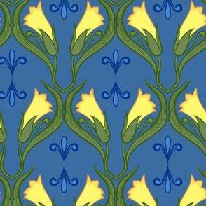 Small Nouveau Floral Repeat 1