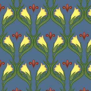 Small Nouveau Floral Repeat 2