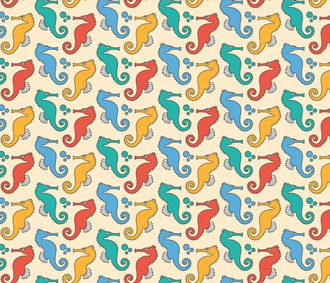 Seahorses on Yellow fabric by pinkdeer on Spoonflower - custom fabric