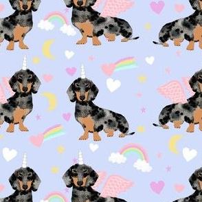 dachshund dapple unicorn dog breed fabric dachsie