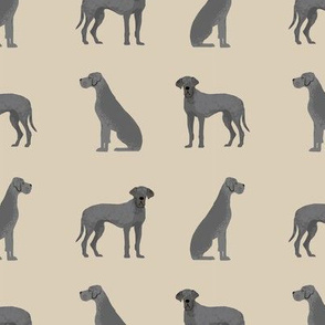 great dane blue simple tan dog breed fabric