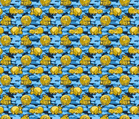 CamoHippos/Yellow_Blue fabric by iryna_ruggeri on Spoonflower - custom fabric