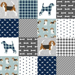 beagle (2 inch) cheater quilt pet quilt b wholecloth