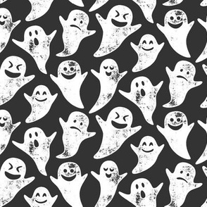 ghost on grey - halloween