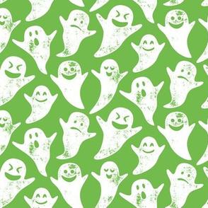 ghost on green - halloween