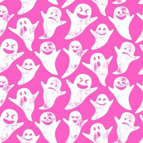 ghost on hot pink - halloween