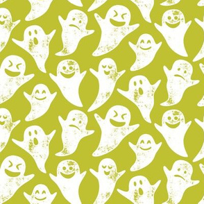 ghost on lime - halloween