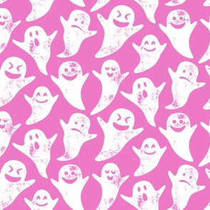 ghost on pink - halloween
