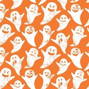 ghost on orange - halloween
