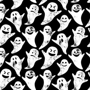 ghost on black - halloween
