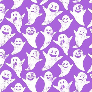 ghost on purple - halloween
