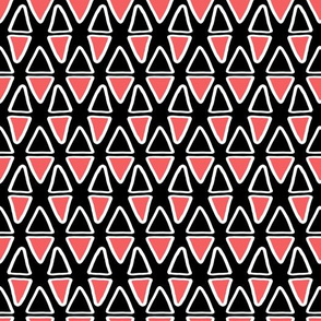 Little Abstract Triangles   Black & Pink