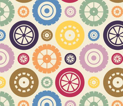 Four Wheels fabric by seesawboomerang on Spoonflower - custom fabric
