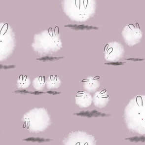 Dustbunnies in lilac