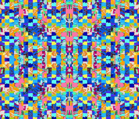 GEOMETRIC BLUE fabric by soobloo on Spoonflower - custom fabric