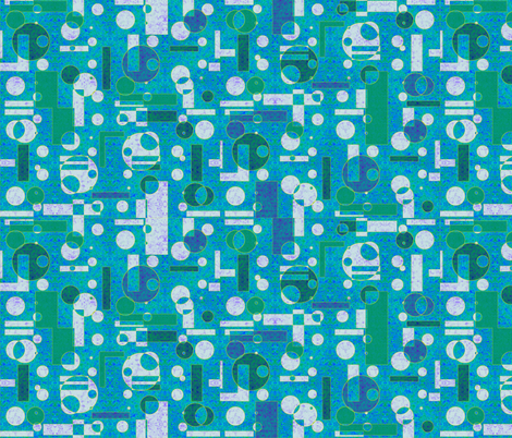 textured blue geometrics fabric by variable on Spoonflower - custom fabric