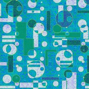 textured blue geometrics
