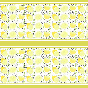 lemon poppy twist 10 -  yellow stripes