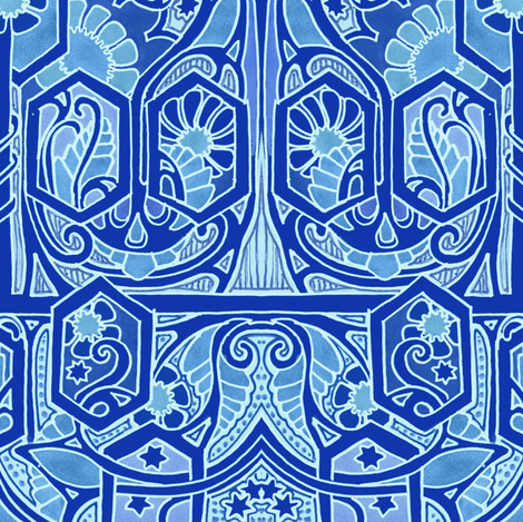 Bigger, Bolder, Bluer fabric by edsel2084 on Spoonflower - custom fabric