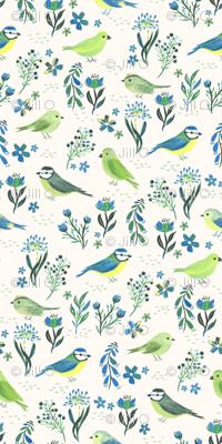Hand Painted Garden Birds