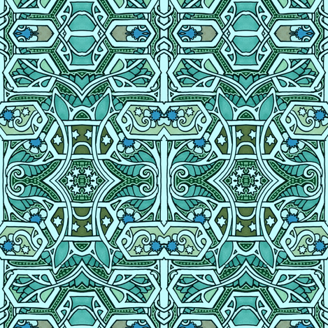 sketch journal tribal pattern green 6x9 pages are lined on the bottom third with blank space on top