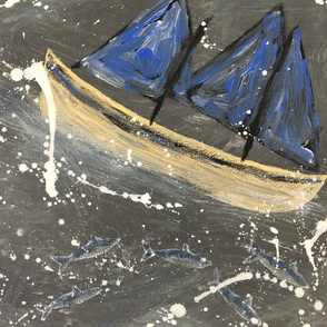 Stormy Boat Tile 1