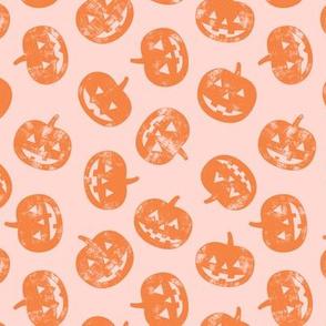 Jack-o'-lantern - pumpkins on pink - halloween