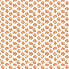 (micro scale) Jack-o'-lantern-  pumpkins - halloween