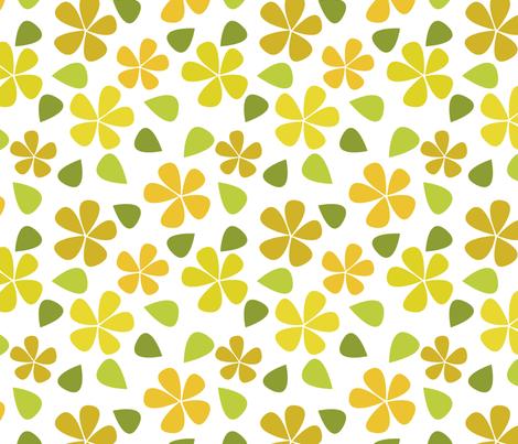 Pretty Yellow Floral fabric by daphne_thomas_designs on Spoonflower - custom fabric