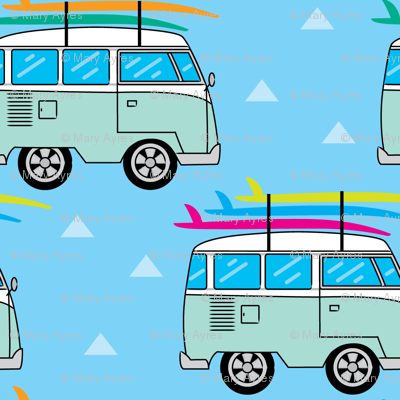 camper-van-and-surfboards-on-blue