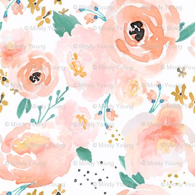 IBD Peachy Punchy Florals A