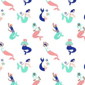 Mermaid Soccer/Football Team in white