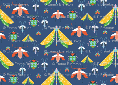 Summer Bug Collection Navy