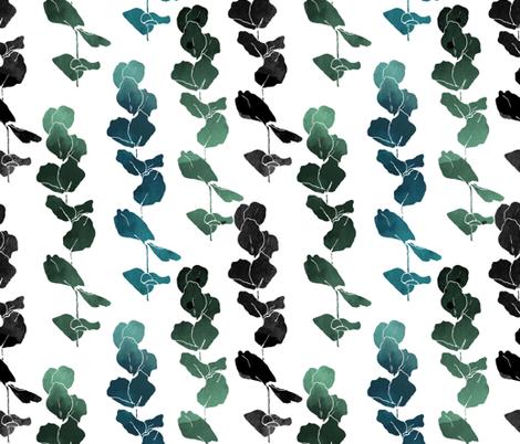 Eucalyptus leaves fabric by fat_bird_designs on Spoonflower - custom fabric