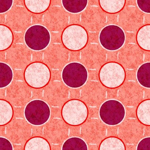 raspberry dots on pink