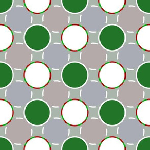 green and white dots